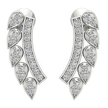 Load image into Gallery viewer, 14k White Gold Designer Earrings-DE207