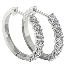 Load image into Gallery viewer, Diamond White Gold Hoops Earring-DE102