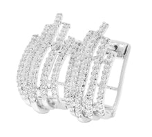 Load image into Gallery viewer, Prong Setting Designer Natural Diamond Hoops Earring-DE130