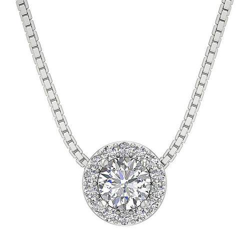 Diamond White Gold Pendants-DP218