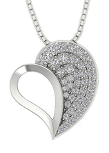 Load image into Gallery viewer, Heart Pendants 14k/18k White Yellow Rose Gold SI1 G 0.60 Ct Round Cut Diamonds