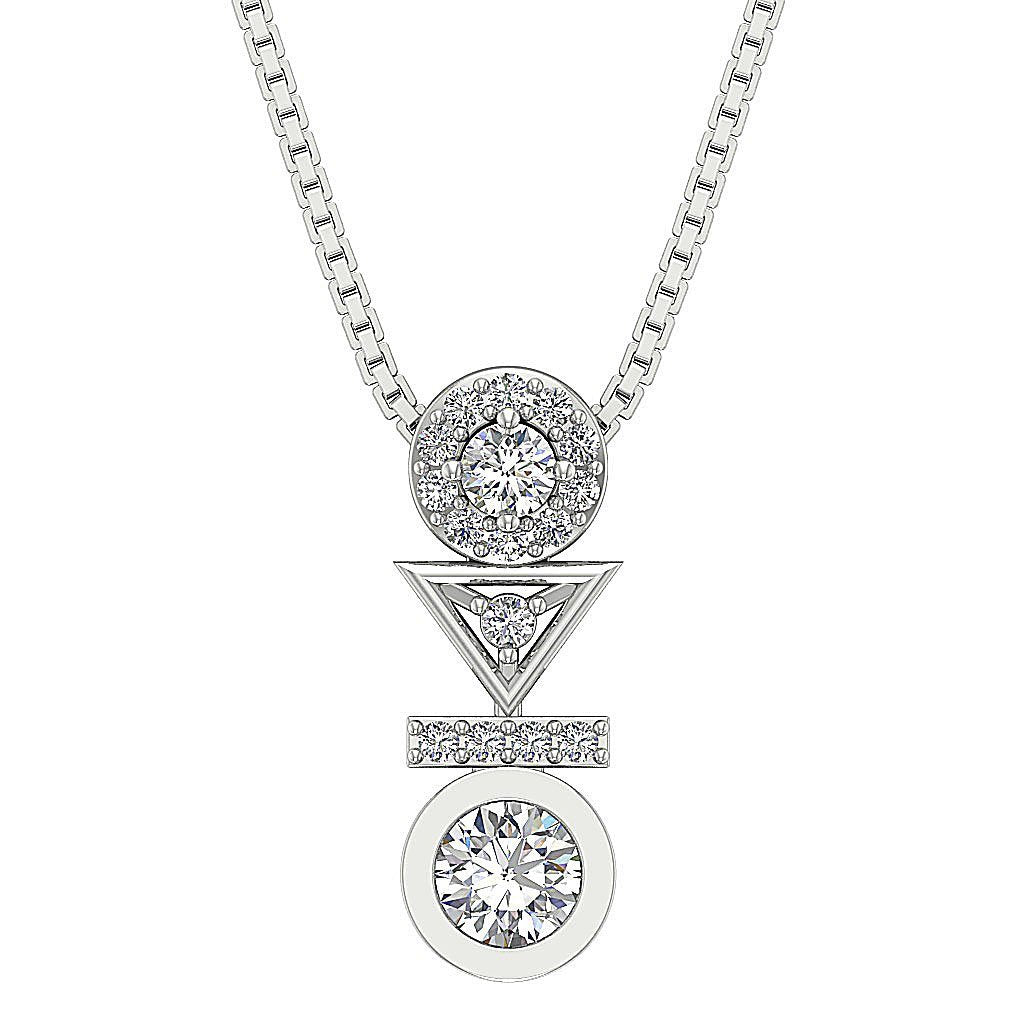 Designer Natural Diamond Pendants-DP403