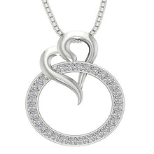 Load image into Gallery viewer, Circle And Heart Shape Pendant-DP422