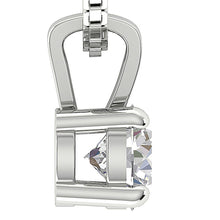 Load image into Gallery viewer, Genuine Diamond White Gold Pendants Side View-DP81-0.50-3