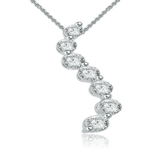Designer Round Cut Diamond Pendants-P-434A