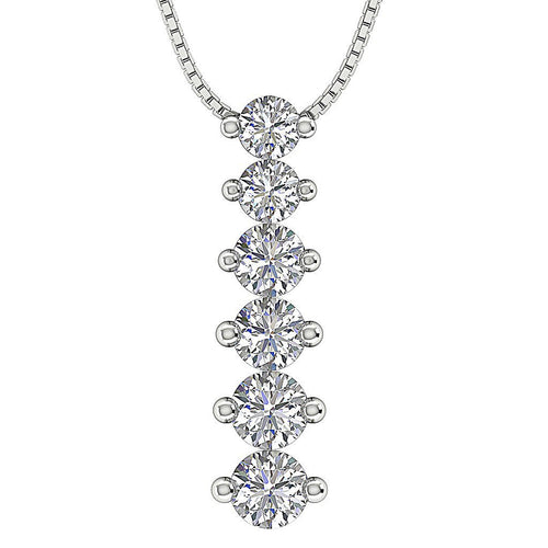 Journey Diamond White Gold Pendants-P-732