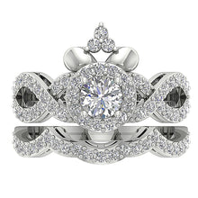 Load image into Gallery viewer, 14k White Gold Designer Natural Diamond Ring-CR-200