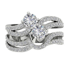 Load image into Gallery viewer, Round Cut Diamond White Gold Ring-DCR128