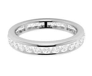 14k Yellow Gold Stackable Wedding Eternity Ring SI1 G 1.35 ct Natural Diamond Channel Set 3.40MM