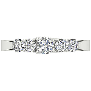 Designer Diamond White Gold Ring-DFR40