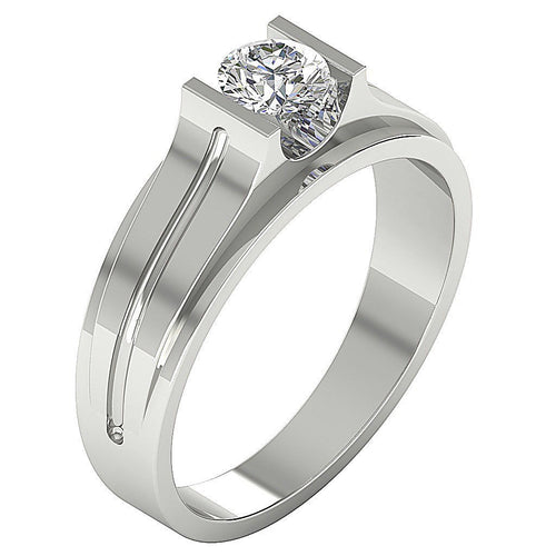 Mens Solitaire Ring-DMR4-0.50Ct
