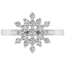 Load image into Gallery viewer, Vintage Round Diamond White Gold Ring Top View -DRHR6-5