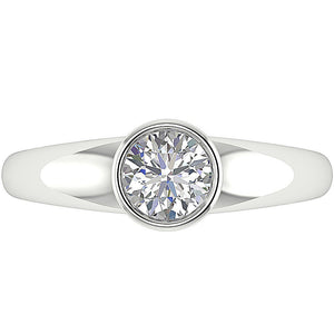 Genuine Diamond White Gold Ring-DSR154-SR-656