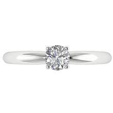 Load image into Gallery viewer, Diamond Solitaire Ring White Gold Top View-DSR26-0.50