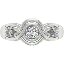 Load image into Gallery viewer, Round Cut Diamond 14K White Gold Ring-DTR159-TR-165-5