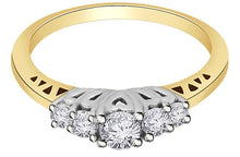 Load image into Gallery viewer, White Gold Designer Round Cut Diamond Ring-FR59