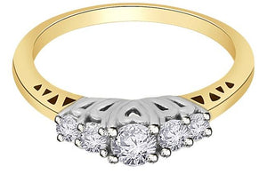 White Gold Designer Round Cut Diamond Ring-FR59
