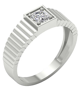 Diamond White Gold Ring-MR-78