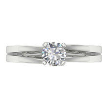 Load image into Gallery viewer, 14K White Gold Solitaire Natural Diamond Designer Wedding Ring SI1 G 0.50 Ct 4 Prong Set 5.40MM