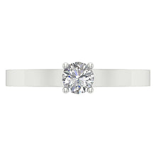 Load image into Gallery viewer, 14K White Gold Solitaire Round Diamond Designer Wedding Ring SI1 G 0.50 Ct Prong Set 5.10MM