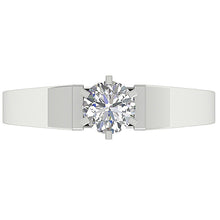 Load image into Gallery viewer, Top View Genuine Diamond White Gold Ring-SR 766-0.80-5