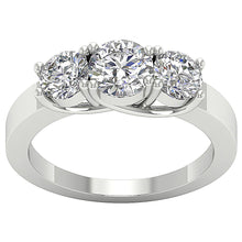 Load image into Gallery viewer, Genuine Diamond 14K White Gold Ring-TR-102-1