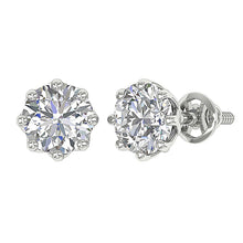 Load image into Gallery viewer, Cross And Side View Natural Diamonds Earrings-DST102