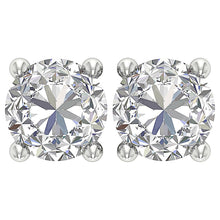 Load image into Gallery viewer, Genuine Diamond 14K Gold Studs Earring-DST45-2.50