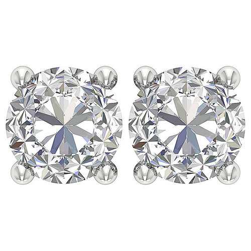 Genuine Diamond 14K Gold Studs Earring-DST45-2.50