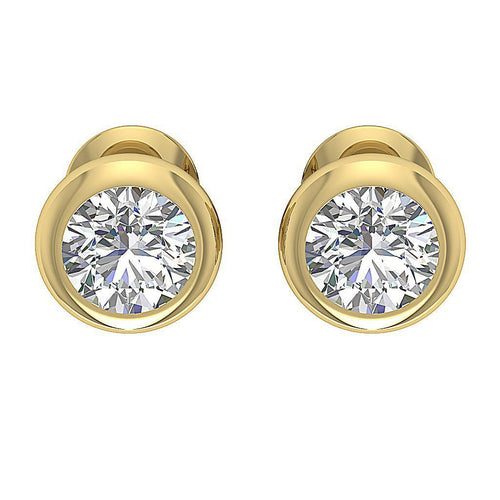 Designer Round Brilliant Ideal Cut Studs Earring-DST101-1.00CT