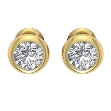 Load image into Gallery viewer, Natural Diamond Designer Yellow Gold Studs Earring-DST101-1.00CT