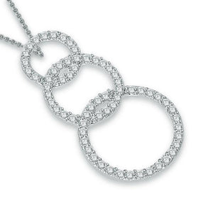 Cross View Diamonds Pendants-P-390