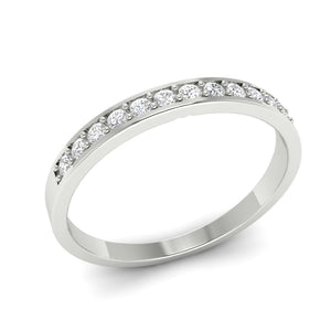 Prong Setting White Gold Ring-WR-2A