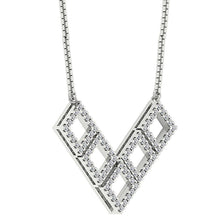 Load image into Gallery viewer, Designer Prong Set 14k-18k White Gold Fashion Pendants-DP375