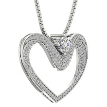 Load image into Gallery viewer, Designer Prong Set Heart Pendants-DP195