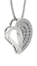 Load image into Gallery viewer, Designer Prong Set Heart Pendants-DP254