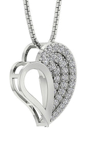 Designer Prong Set Heart Pendants-DP254