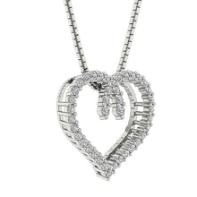 Load image into Gallery viewer, Side View Designer Prong Set Heart Pendants-DP392