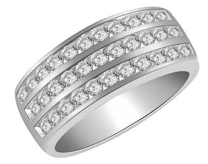 Right Hand Anniversary Ring White Gold Side View-RHR-23-1