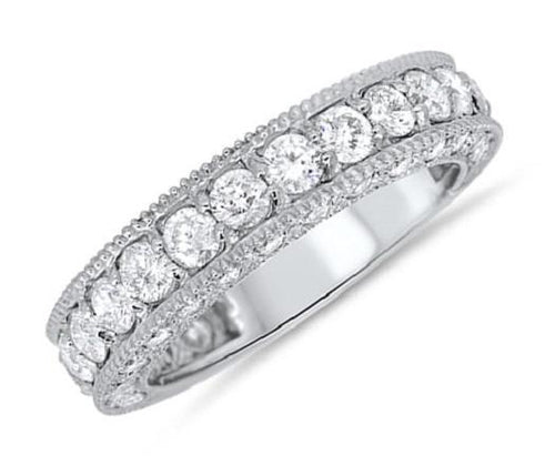 Natural Round Cut Diamonds Ring-ETR-34A