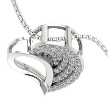 Load image into Gallery viewer, Designer Round Cut 14k-18k White Gold Diamond Pendants-DP254