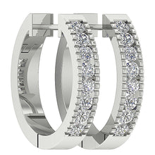 Load image into Gallery viewer, White Gold Designer Medium Hoops Earring-DE11