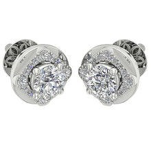 Load image into Gallery viewer, Diamond White Gold Designer Round Cut Earring-DE170