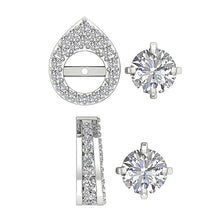 Load image into Gallery viewer, Genuine Diamond White Gold Earring-DE173-12