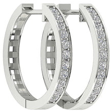 Load image into Gallery viewer, Cross View White Gold Earrings-DE38