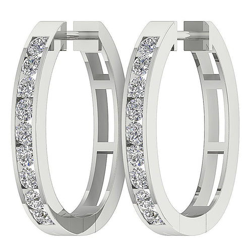 Diamond White Gold Earring-E-39