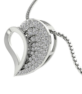 Designer Diamond White Gold Pendants-DP254