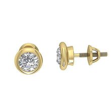 Load image into Gallery viewer, Designer Round Diamond Yellow Gold Earring-DST101-1.00CT