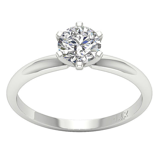 Solitaire Engagement 14k Gold Ring-DSR153-SR-23H-0.80-1
