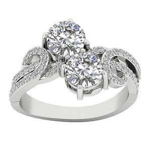Solitaire 14k White Gold Ring-DSR339